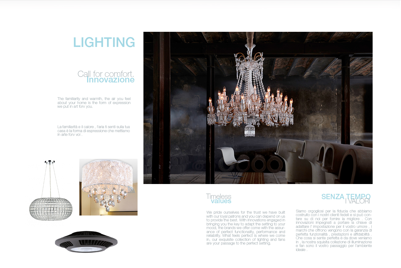 home page lighting catalogue